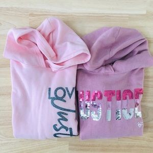 Girls Justice sweat tops